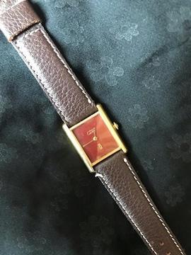 鑑定済本物カルティエCartier must手巻式時計レディース正常動作
