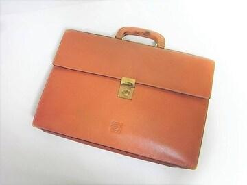 ロエベ LOEWE グレインレザー製ビジネスバッグ ブラウン