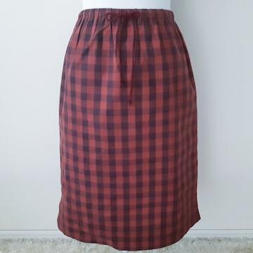 ◆新品◆3年2組◆ギンガムチェック◆コットン◆スカート◆M◆