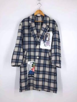 Name.(ネーム)RAYON COTTON PLAID PATCHED COATチェスターコート