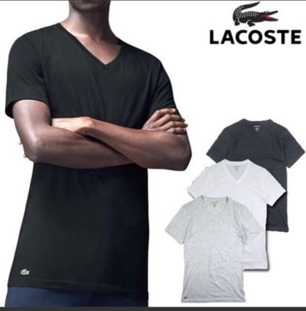 新品未使用LACOSTEラコステ半袖Tシャツ黒色ブラックメンズ  < ブランドの