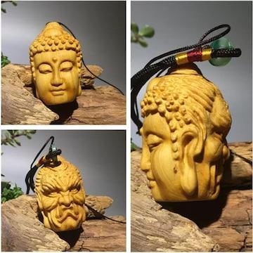 2面菩薩 彫刻 菩薩 仏様 置物 風水 アクセサリー