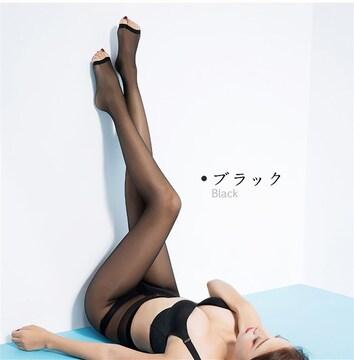 ストッキング&3足組!【開】5本指 ブラック