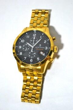 ユナイテッドアローズ 腕時計 ゴールド クロノグラフ クォーツ