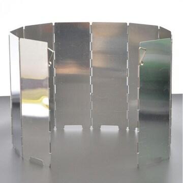 風除板 風除け ウインドスクリーン 折り畳み式 防風板 アルミ製