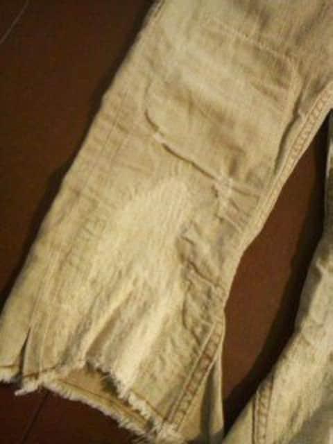 ●ムチャチャ● ダメージ加工半端丈パンツ XL(130前後) < ブランドの