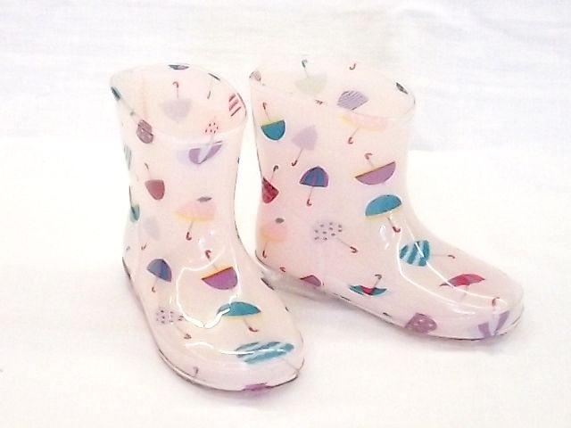モンフレール レインブーツ 7008 15.0cm かさピンク 可愛い 長靴  < キッズ/ベビーの