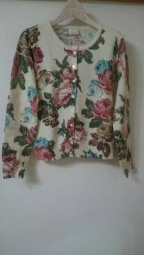 オリーブデオリーブ  レトロ花柄カーディガン