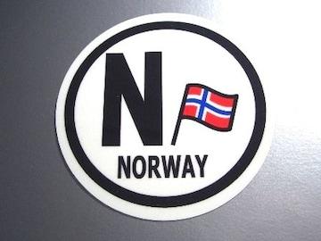 ○円形 ノルウェー国旗ステッカービークルID国識別シール