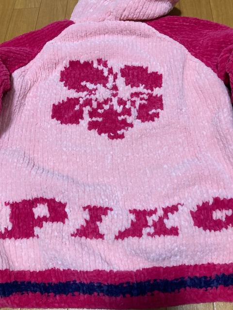 新品 piko ハワイ フードパーカー ピンク  モコモコ ニット セーター < ブランドの