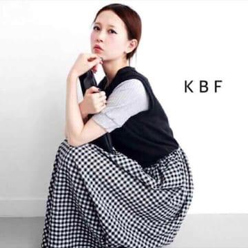 ◆KBF/ケービーエフ◆スウェットMIXギンガムチェックワンピース★マキシワンピ♪