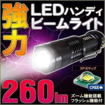 CREE LED ハンディライト 懐中電灯 ビームライト 260LM 単3