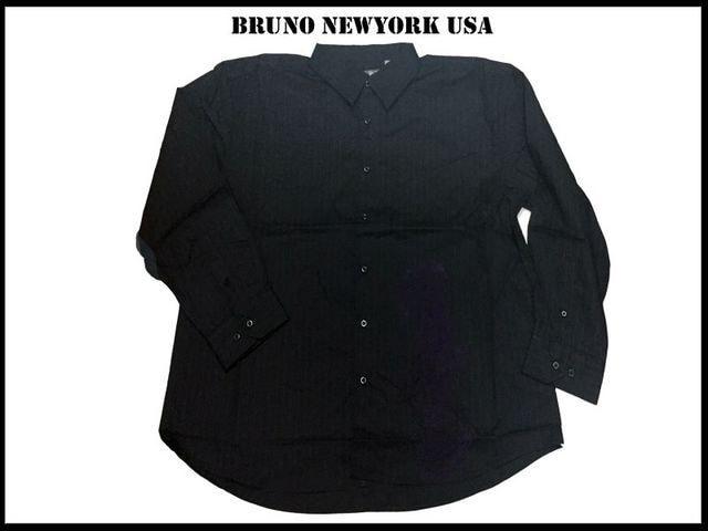 新 【黒色-2XLB】 Bruno Newyork シャツ人気ビッグサイズ  < 男性ファッションの