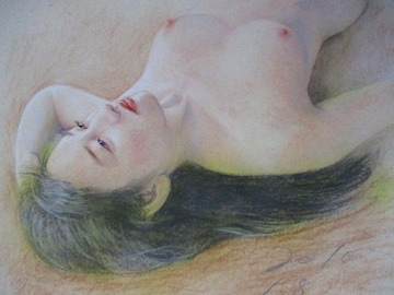 「裸婦153」の限定版画、エディション、直筆サインあり
