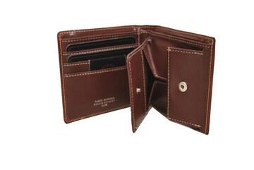 送料無料★二ッ折財布 ボックス型小銭入付★SB9063 L茶