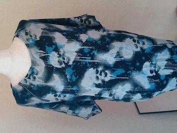 HYS   ヒス スカル ドルマンチュニック 1,2回着用美品    blue