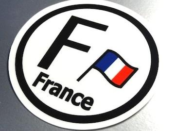○円形 フランス国旗ステッカービークルID国識別シール
