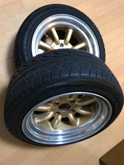 旧車 RSワタナベタイヤホイールセット。