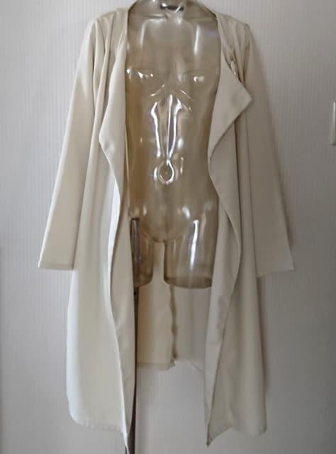 【大きいサイズ】ノーカラー テロンチ コート  < 女性ファッションの