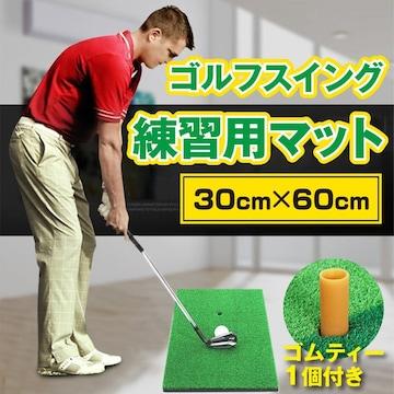 ゴルフ マット スイング 大型 ティー セット 練習用 素振り
