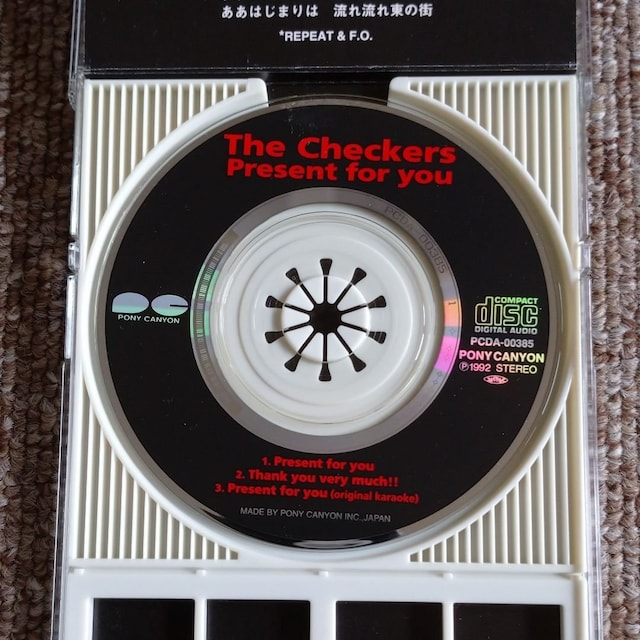 Present for you☆The Checkers < タレントグッズの