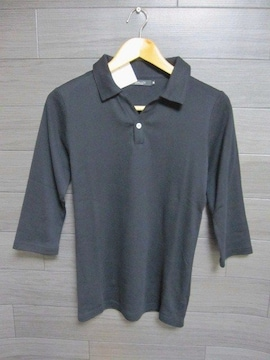 □UNITED ARROWS/ユナイテッドアローズ 7分袖 シャツ/メンズ・Mブラック☆新品