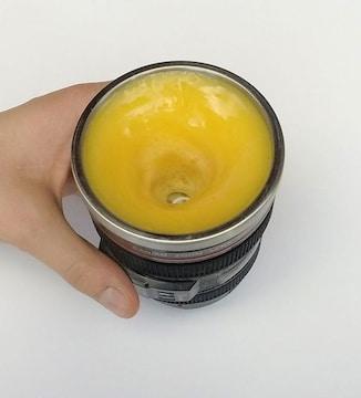 レンズ型マグカップ  ブラック