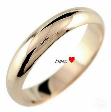 送料無料14号ピンクゴールドサージカルステンシンプルリング指輪