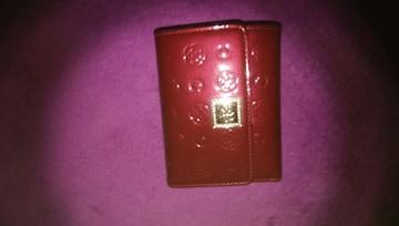 未使用! CLATHAS  クレイサス 折り畳み 財布 ワインレッド