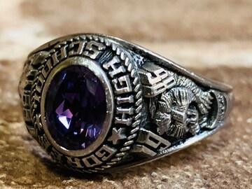 1986年 ビンテージ ハイスクールリング 指輪 カレッジ 19号 20号 ルード系 ラギッド