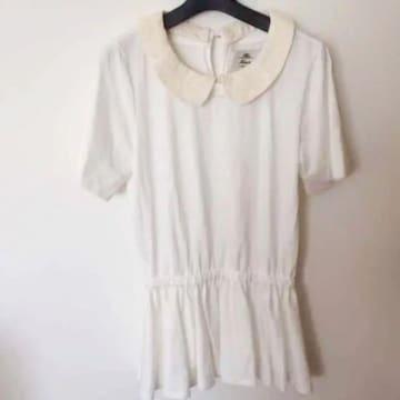 kaonカオン 白ホワイト チュニック ミニスカート ワンピース