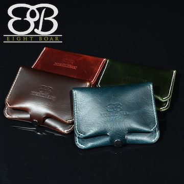 ◆8Bオリジナル プルアップレザー 小銭入れ&カードケース◆k42
