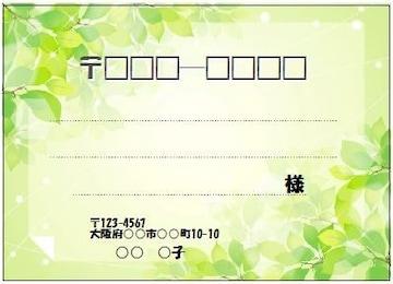 ■511(宛名シール)8枚■新緑�@