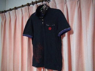 天の黒のポロシャツ(M)!。