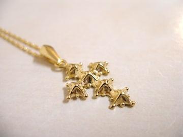 仁尾彫金『ゴールドスノークロス』ハンドメイド35