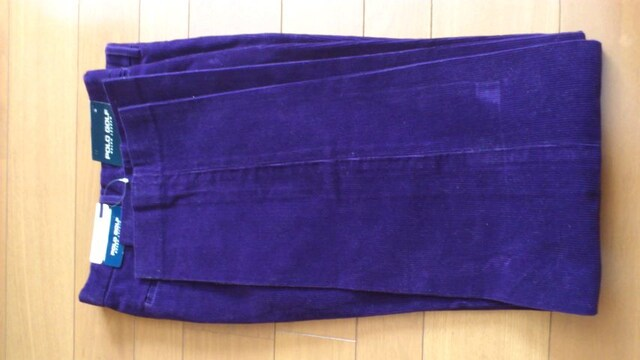 激安86%オフラルフローレン、コーデュロイパンツ(新品タグ、紫、30インチ) < 男性ファッションの