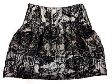 新品 1023000円 CIVIDINI 個性的 イタリア製 柄 ミニ スカート
