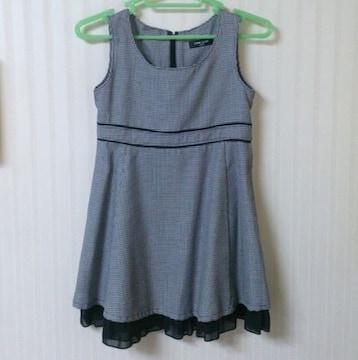 コムサイズム★チドリ柄 ジャンパースカート