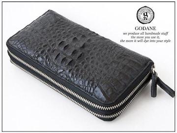ゴダンspcw8055cpBKクロコWラウンド財布