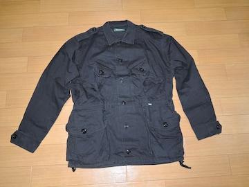 デラックスDELUXEミリタリーシャツジャケットL黒M-65ワーク
