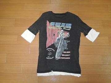 バックボーン BACKBONE レイヤード Tシャツ S 黒 カットソー