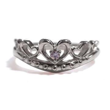 【12月の誕生石タンザナイト】シルバー925リング 指輪 ティアラ