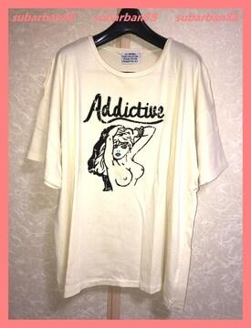 ☆スライ☆超美品♪ヌードガールダメージオーバーサイズTシャツ