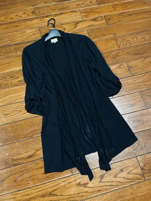 【春夏】EMMA JAMES◆ブラック◆洗練ガウンカーディガン  < 女性ファッションの