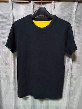 ヴィンテージ 古着 チャンピオン ランタグ リバーシブル 半袖Tシャツ Sサイズ 黒×黄