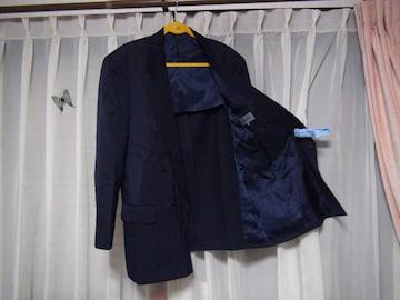 KENZOのブレザー(L)ネイビー 毛100% 日本製 !。
