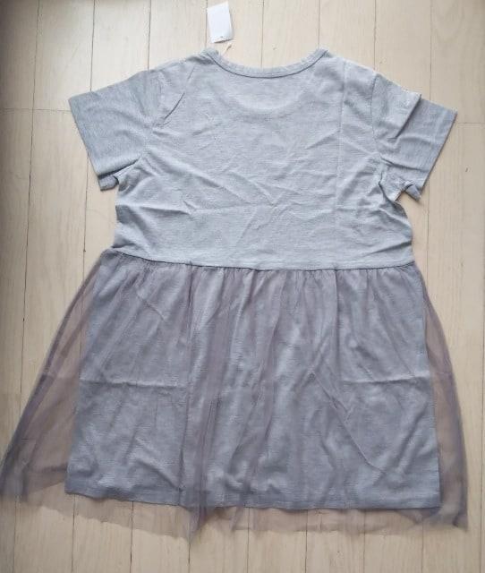 LL★チュールレース半袖Tシャツチュニック★新品★大きいサイズ < 女性ファッションの