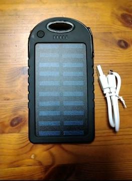 スマホ ソーラーバッテリー solar charger ソーラパネル搭載