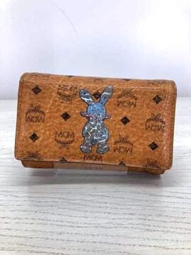 MCM(エムシーエム)ウサギプリント モノグラムレザー三つ折り財布三つ折り財布