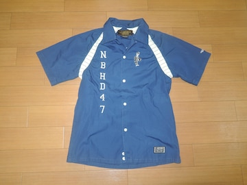 NEIGHBORHOODネイバーフッド半袖ボーリングシャツS刺繍ロゴ